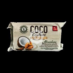 Jabon tocador coco y almendras 100gr Blanco