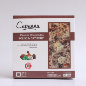 pizzetas congeladas Pollo y Catupiry