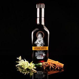 amaro santo botella 500ml black