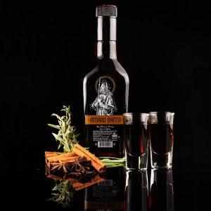 amaro santo botella 500ml black shots