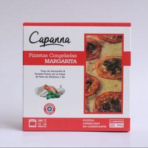 capanna pizzetas congeladas margaritas