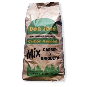 mix carbon vegetal y briqueta