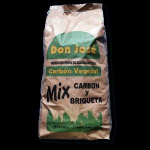 mix carbon vegetal y briqueta