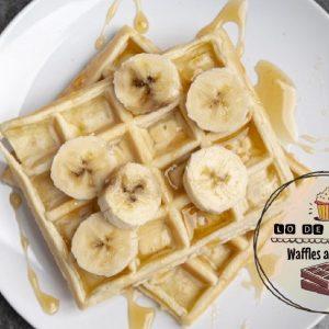 Waffles de avena con banana