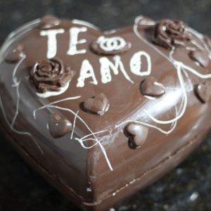 Corazon gigante de chocolate